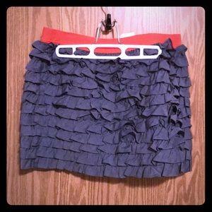 NWT J Crew ruffle mini skirt